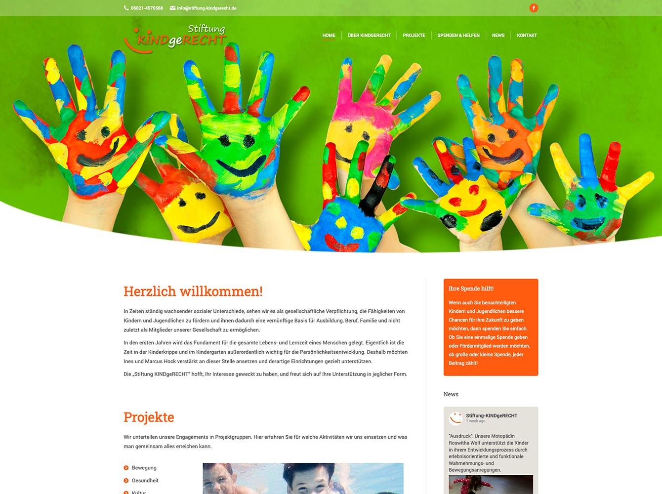 Webseite - Stiftung KINDgeRECHT